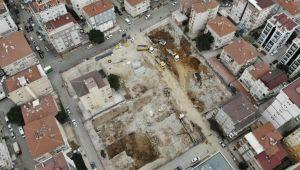 Kartal'da yıkılan binaların yerine yeni binalar hızla yükseliyor