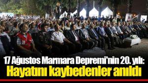 17 Ağustos Marmara Depremi'nin 20. yılı: Hayatını kaybedenler anıldı