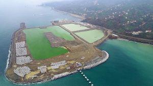 Rize-Artvin Havalimanı'nda dolgu çalışmalarının yüzde 41'i tamamlandı
