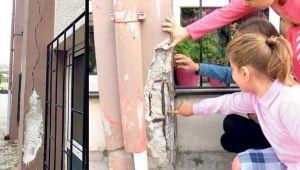 Depremden zarar gören ilkokulda eğitim devam ediyor!