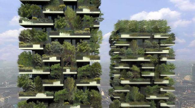 Dünyanın ilk orman apartmanı Milano'da