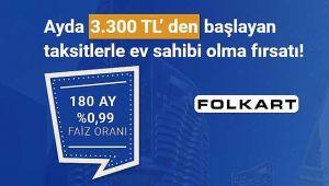 Folkart İzmir konut projeleri 0.99 faiz oranı ile 180 aya vade fırsatı