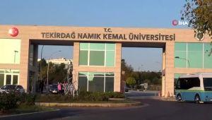 Tekirdağ'da üniversitenin depremde hasar gören binası boşaltıldı