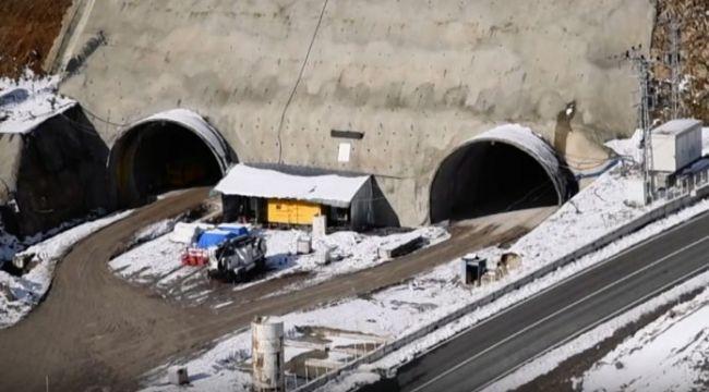Eğribel Tüneli inşaatı 2021 yılı sonunda tamamlanacak