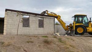 Göreme'de 46 kaçak yapı yıkıldı