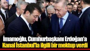 İmamoğlu, Cumhurbaşkanı Erdoğan'a Kanal İstanbul'la ilgili bir mektup verdi