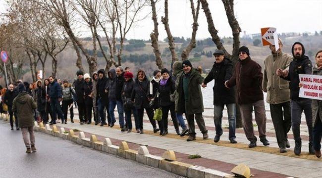 Kanal İstanbul'a Karşı İnsan Zinciri