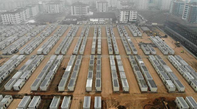 Deprem bölgesinde konteyner kent kurulumları son aşamaya geldi