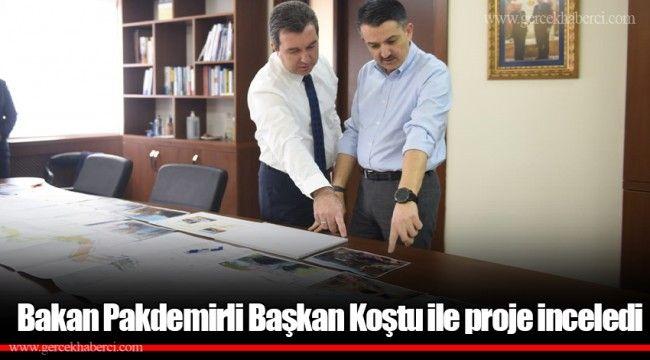 Bakan Pakdemirli Başkan Koştu ile proje inceledi