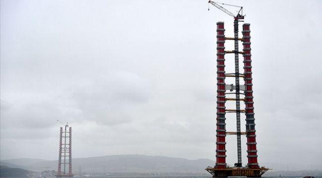 Simgelerin Köprüsü'nde Kule Yüksekliği 230 Metreye Ulaştı