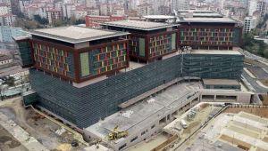 İnşaatında sona gelinen Göztepe Şehir Hastanesi havadan görüntülendi