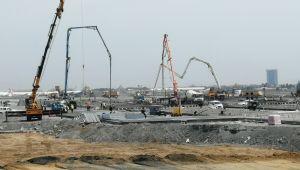 Pandemi Hastanesinin zemin beton dökme işlemi bitirildi