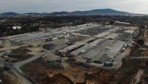 Sancaktepe'deki salgın hastanesinin yapımı devam ediyor