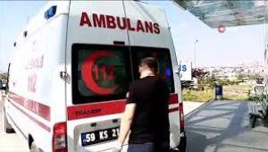AVM inşaatında 4 metre yüksekten düşen işçi yaralandı
