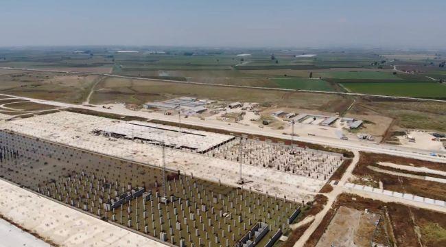 Çukurova Bölgesel Havalimanı havadan görüntülendi