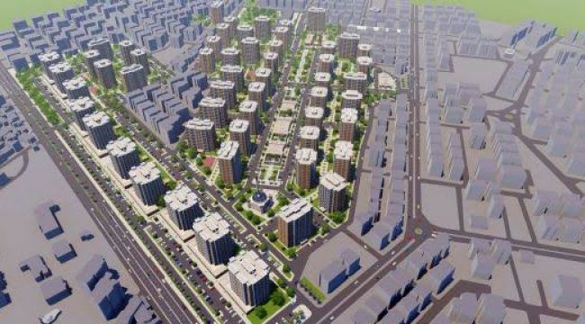 Yeşildirek kentsel dönüşüm projesinin birinci etap ihale süreci başlatıldı
