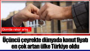Üçüncü çeyrekte dünyada konut fiyatı en çok artan ülke Türkiye oldu