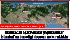 Utanılacak açıklamalar yapmasınlar; İstanbul'un önceliği deprem ve kuraklıktır