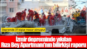İzmir depreminde yıkılan Rıza Bey Apartmanı'nın bilirkişi raporu