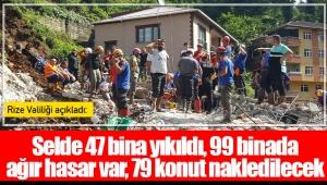 Selde 47 bina yıkıldı, 99 binada ağır hasar var, 79 konut nakledilecek