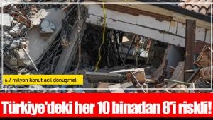Türkiye'deki her 10 binadan 8'i riskli!