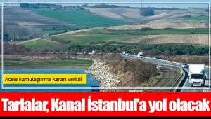Tarlalar, Kanal İstanbul'a yol olacak