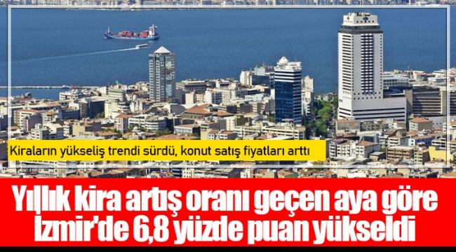 Yıllık kira artış oranı geçen aya göre İzmir'de 6,8 yüzde puan yükseldi